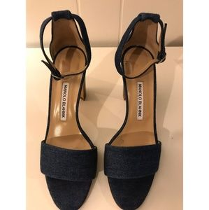 [MANOLO BLAHNIK] DENIM SANDALS